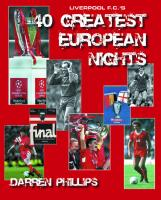 Liverpool F.C.'s 40 Greatest European Nights cover image